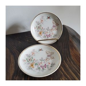 Vintage Avon Porcelain Dishes 22k Gold Rims
